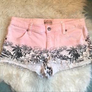 ROXY Patterned Denim Shorts